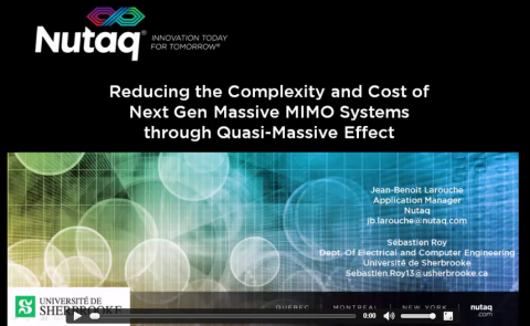 Video on Reducing Complexity & Cost of Massive MIMO Systems using quasi-massive effect